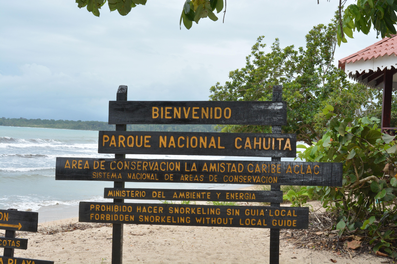 Entrée du parc national Cahuita