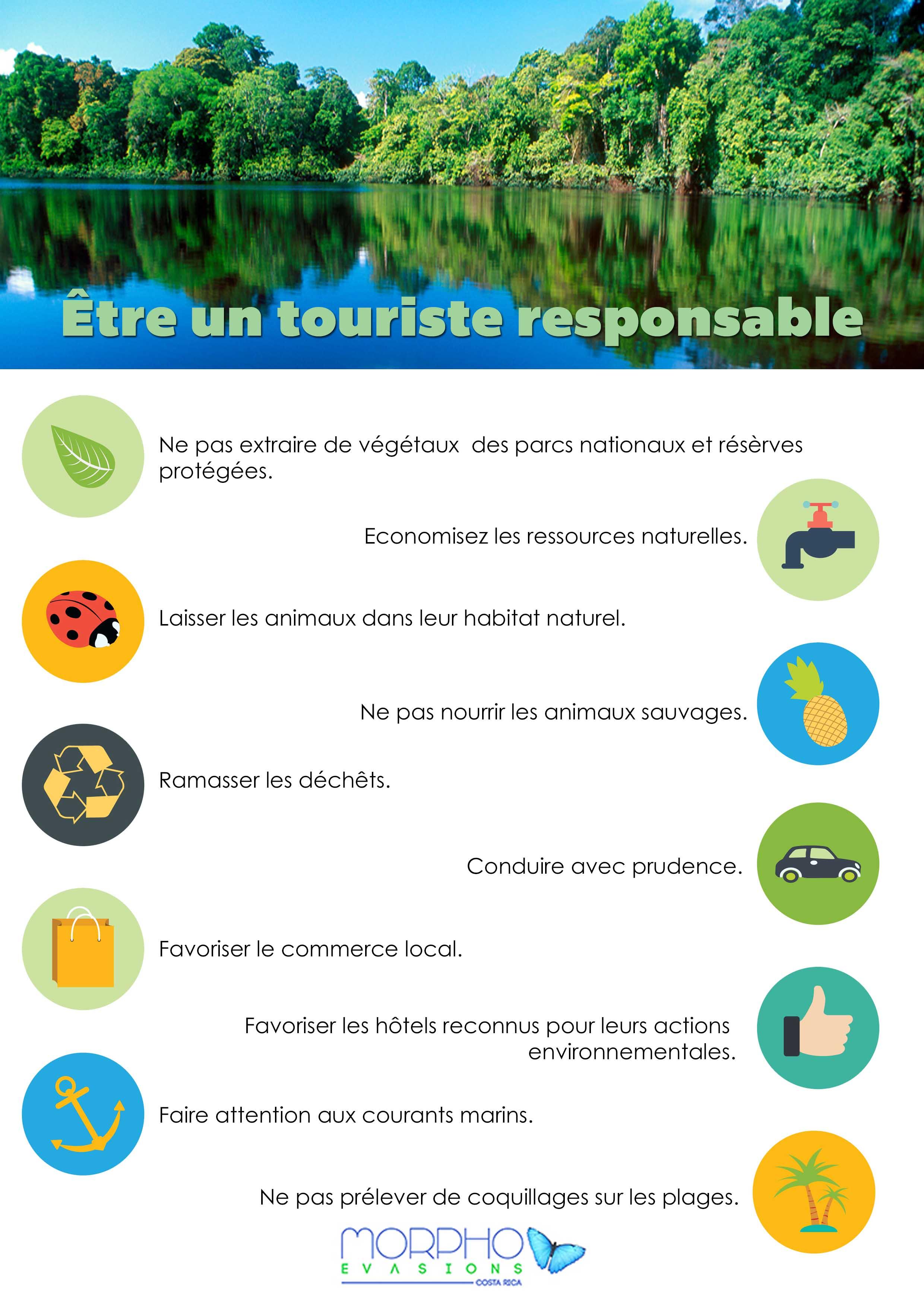 Infographie tourisme responsable